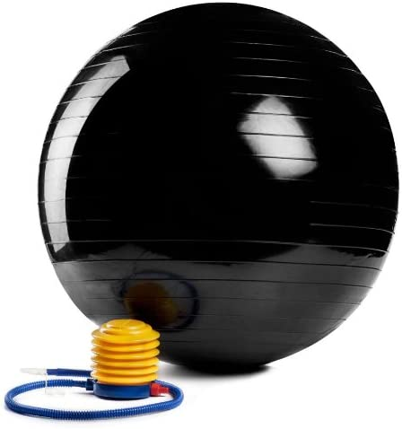 JUMP USA Swiss Ball Max 60% OFF 75 cm Foot Exercise Black Save money with Pump