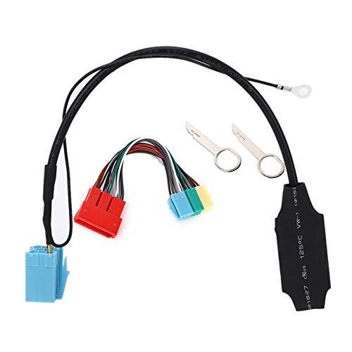 SANON Adaptador de Audio Bluetooth 5.0 de 20 Pines / 8 Pines con Cable de Datos de 20 Pines Conector de Radio Estéreo para Automóvil Compatible con Audi A2 A3