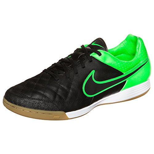 Nike Herren Schuhe Fußballschuh Sportschuh Hallenschuh Tiempo Legacy IV Schwarz Grün 631522003 (38.5 EU)