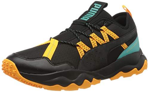PUMA Ember TRL, Zapatillas de Running para Hombre, Negro Black/Blue Turquoise/Orange Alert 03, 43 EU