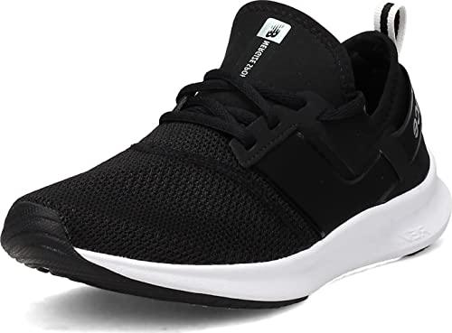 New Balance Women's FuelCore Nergize Sport V1 Sneaker, Black/White Metallic, 7.5 Wide