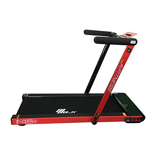 JK Fitness Tapis Roulant Compact M8+, Unisex Adulto,Rosso, 151 x 77 x 101 cm (lxwxh)