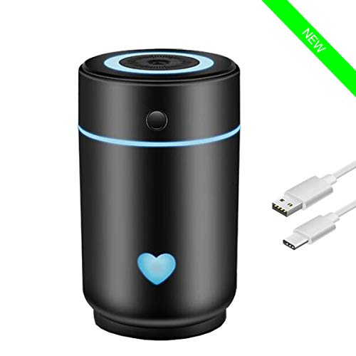 Hobbypower Mini difusor de Aceite Esencial, humidificador USB portátil 220 ml con 7 Luces LED Diferentes para el hogar, la Oficina y los Viajes