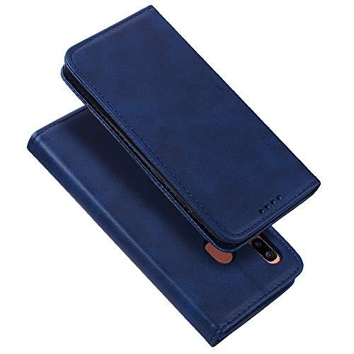 Radoo Coque Samsung Galaxy A20E,Housse Portefeuille Cuir Synthétique Etui Protection avec [Béquille][Fentes pour Cartes][Fermoir Magnétique] pour Samsung Galaxy A20E (Bleu)