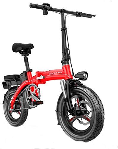 RDJM Bici electrica Bicicletas eléctricas rápidas for adultos portátil fácil de almacenar, conmuta la E-bici con la conversión de frecuencia de alta velocidad del motor, Ciudad de bicicletas Velocidad