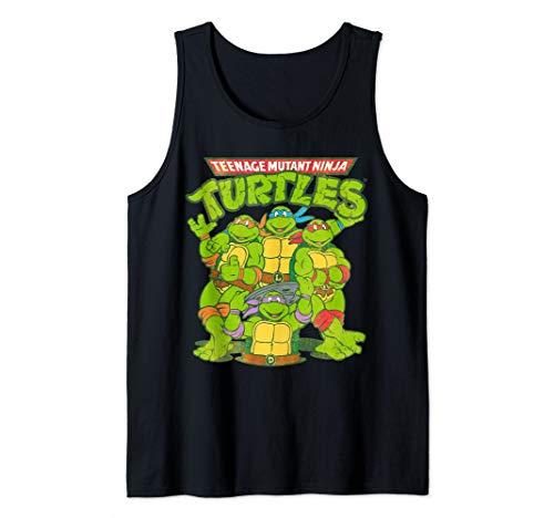 TMNT All Ninja Turtles With Names Tank Top