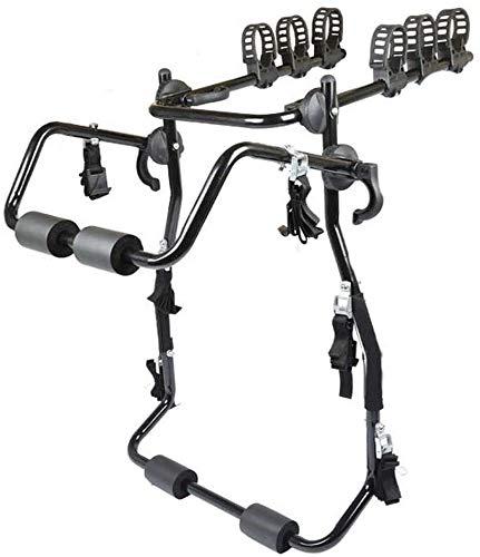 Fiets Vloer Parkeren Rack 3-Bike Trunk Mount Bicycle Carrier Rack meeste Sedan SUV Hatchbacks Minivan 150 Kg Loading dmqpp (Color : Black, Size : One Size)