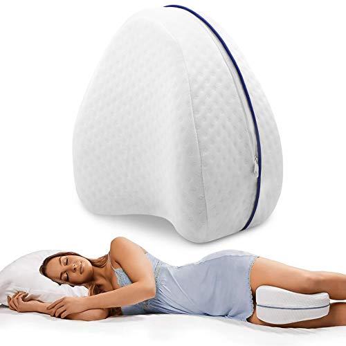 VPOW Kniekissen, Ergonomisches Seitenschläferkissen-Beinkissen, Schlaufe Memory-Schaum, Leg Pillow zur Druckentlastung und Schmerzen von Hüften, Beinen, Knien, Rücken und Wirbelsäule lindern