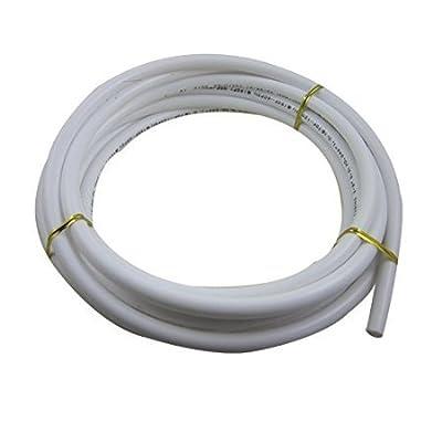 Malida 3/8 Diameter Tubing 5 Meters (16 feet) RO water Tubing Hose Pipe,+3/8 shut off valve 2 pcs, 3/8 tee 2 pcs.