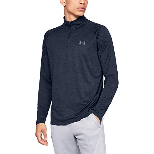 UA Tech fabric is quick drying, ultra soft & has a more natural feel Material wicks sweat & dries really fast Anti odor technology prevents the growth of odor causing microbes Generous ½ zip front makes for easy layering New, streamlined fit & shaped...