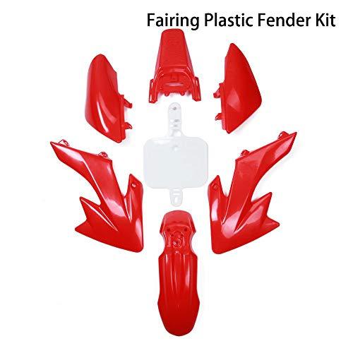ABS Plastic Fairing Fender Kit - Motorcycle Fender Fairing Body Work Kit Set For Honda CRF50 XR50 125 SSR SDG 107 Dirt Pit Bike