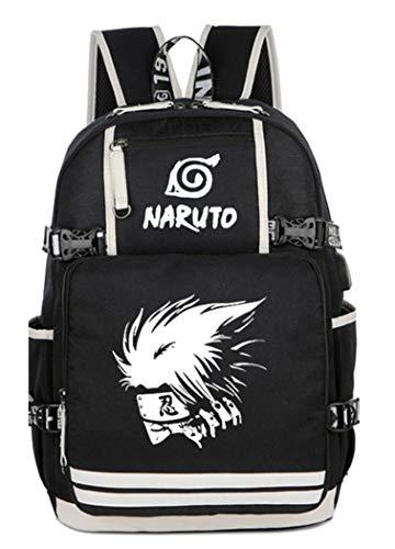 Cosstars Naruto Anime Leuchtend Backpack Schultasche Student Laptoprucksack Rucksack mit USB-Ladeanschluss /6