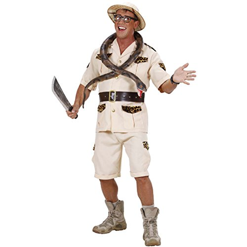 Amakando Dschungel Herrenkostüm Wildnis Safarikostüm L 52 Forscher Dschungelkostüm Safari Kostüm Karnevalskostüme Herren Urwald Entdecker Faschingskostüm Pfadfinder Afrika Männerkostüm