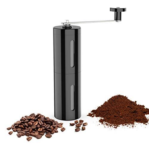 BED COTTON Manuelle Kaffeemühle, Espressomühle, HandKaffeemühle mit Keramikmahlwerk, Präzise Mahlgrad Settings,Tragbare, Kompatibel 40g für Zuhause, Büro, Reise, Camping