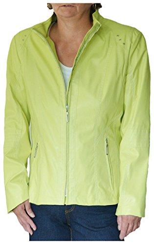 GELCO - Damen Jacke, Limette, Lederoptik Gr. 42