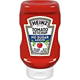 Heinz Tomato Ketchup, No Sugar Added, 13 Ounces (Pack of 2)