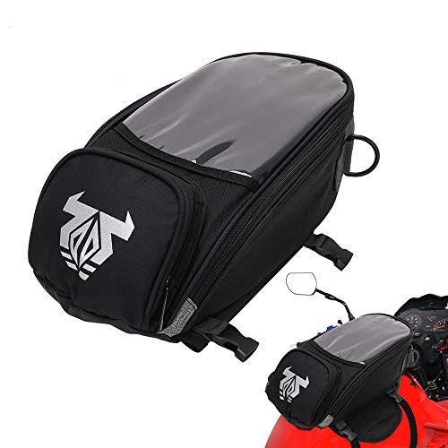 Motorcycle Tank Bag - Waterproof Motorbike Luggage Bags With Strong Magnetic,Bigger Window - Universal Oil Fuel Tank Bags For Honda Yamaha Suzuki Kawasaki Harley BMW Ducati