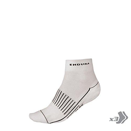 Endura Coolmax Race II Socken 3 Pack Weiß (2017)