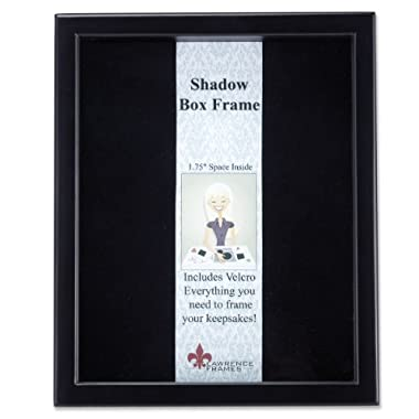 Lawrence Frames 790011 Black Wood Shadow Box Picture Frame, 11 by 14-Inch