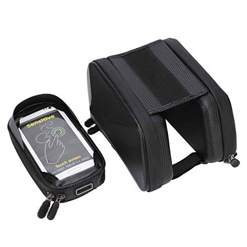 Deror RNOX Bolsa de Montaje para teléfono en Bicicleta Marco Frontal Soporte para Pantalla táctil Bolsa Bolsa de Almacenamiento para Tubo Frontal de Bicicleta