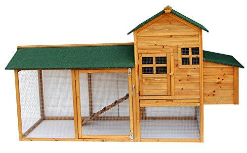 Lovupet XL Hühnerstall Hühnerhaus Hühnervoliere Kleintierkäfig Enten Voliere Deluxe aus Holz 2135