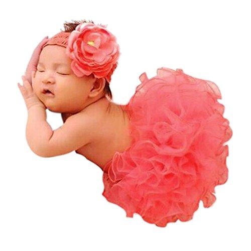 CHIC-Bébé Déguisement Costume Prop Photographie Bandeau Cheveux Fleur Ange Princesse 0-6M Halloween Noël