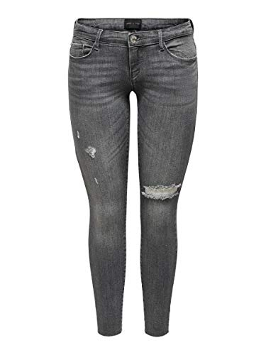 ONLY Female Skinny Fit Jeans ONLCoral Life SL Ankle 2832Grey Denim