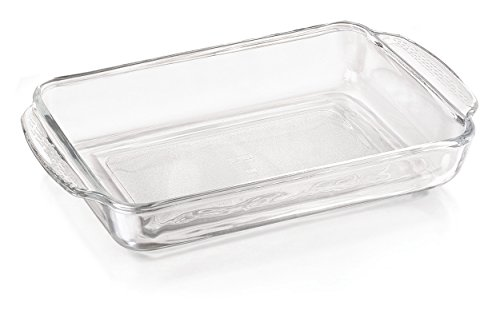 Libbey Rectangular Glass Baking Dish, 9.5-Inch by 13.7-Inch, 1 count