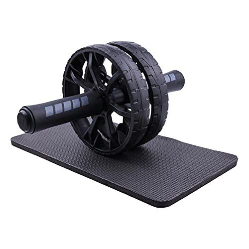 HSYSA Equipement de Remise en Forme pour la Salle de Gym Domestique sans Bruit de Roue Abdominale AB Rouleau avec Tapis pour l équipement d entraîneur de la Hanche Musculaire (Color : Black)