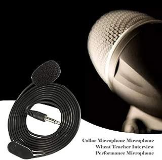 Peoyebo Collar Micrófono Micrófono Trigo Guía del Profesor Entrevista Rendimiento Discurso Auricular Micrófono Micrófono