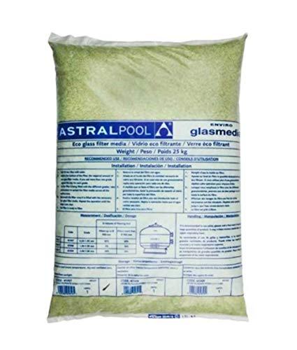 LordsWorld - Astralpool - (57012) 1.0-3.0Mm Activa de Cristal para la Arena Filtros de 25Kg - Arena y Vidrio para filtros de Piscina de Arena - 57012-vetro