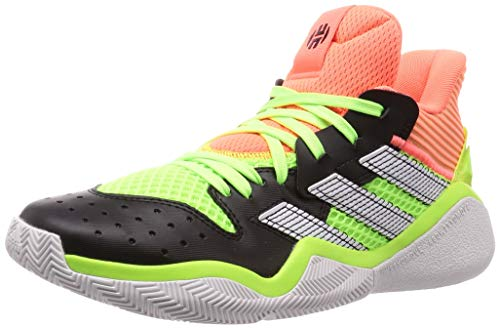adidas Unisex-Erwachsene Harden Stepback Leichtathletik-Schuh, Core Black Signal Coral Dash Grey, 46 EU