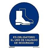 RD26624 - Señal Adhesiva Es Obligatorio El Uso De Calzado De Seguridad Adhesivo de Vinilo 10x15 cm con CTE, RIPCI Nueva Legislación