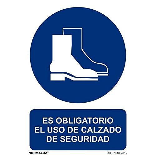RD20624 - Señal Adhesiva Es Obligatorio El Uso De Calzado De Seguridad Adhesivo de Vinilo...