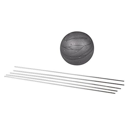 RAYHER 22490606 magische 3D-steekkogel vol met 52 pennen 80 x 0,8 mm, SB-Blister, zilver