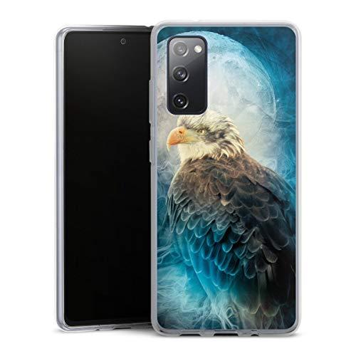 DeinDesign Silikon Hülle kompatibel mit Samsung Galaxy S20 FE Hülle transparent Handyhülle Vogel Adler Malerei