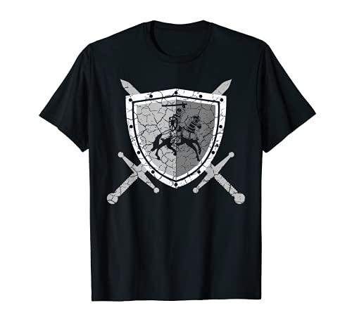 Ritterrüstung mit Löwen am Brustpanzer Mittelalter Ritter T-Shirt