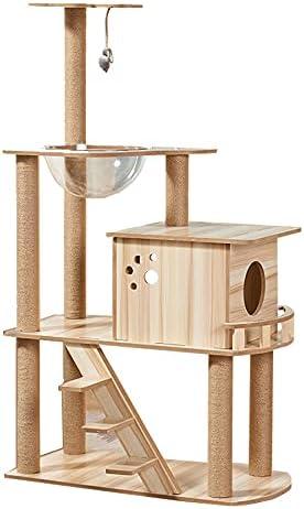 MINXI Cat Climbing Rack Translated Large Tree Cavity trend rank Shelf Wooden