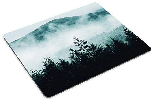 Smooffly Gaming Mouse Pad Custom Misty Forest with Mountains Mousepad Non-Slip Rubber Rectangle Mouse Pads for Computers Laptop 9.5 X 7.9 Inch (240mmX200mmX3mm) Photo #6