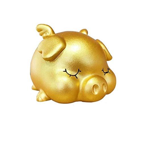 Hucha caja fuerte Cuteig hucha con monedas Hucha Money Bank Banco muchacho de la muchacha del niño del bebé adulto del niño del regalo de cumpleaños lindo del cerdo de la muñeca Huchas infantiles