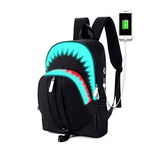 CYF Boys Luminous Backpack with USB charging Port Kids Teens Boys Girls School Bag Anime Backpack Daypack,Black