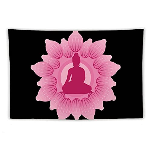 Anime Tapestry Fadeless Soft Polyester Tapestry Wall Hanging for Party Bedroom Room Decorations Buddha Posters - 60'×90'