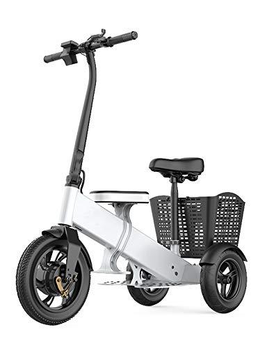 YF-Mirror Scooters eléctricos de Movilidad de Servicio Pesado - Dispositivo de Silla de Ruedas móvil eléctrico para Adultos, Scooter eléctrico de Movilidad de 3 Ruedas - Plegable