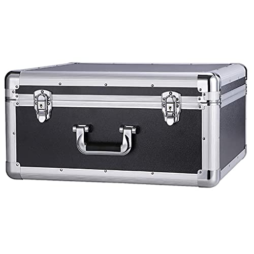 XBSXP Toolbox Briefcase Flight Case with Padded Foam Lockable Portable Aluminium Tool Carrying Case Metal Universal Equipment Storage Box
