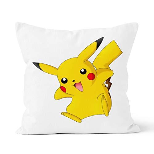 Funda de cojín con diseño de Pikachu animado para el hogar, dormitorio, cojín decorativo, tamaño 40 x 40 cm