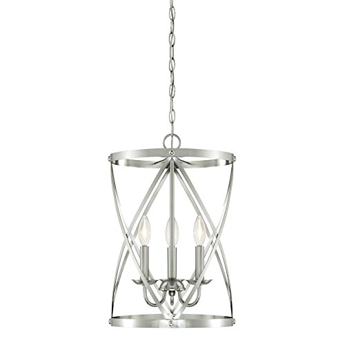 Westinghouse Lighting 6303800 Isadora Three-Light Indoor Chandelier, Brushed Nickel Finish,