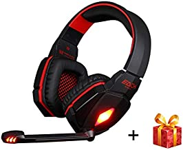 FidgetKute G4000 Pro USB 3.5mm Gaming Headphone Stereo Bass Gamer Headsets with Red China One Size