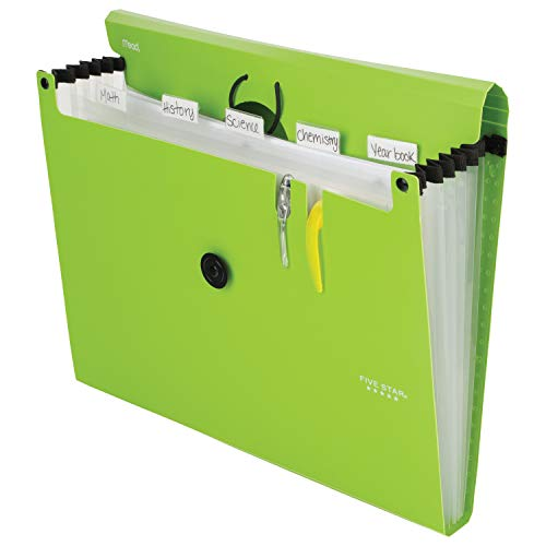 Five Star 6-Pocket Expanding File Organizer, Plastic Expandable Letter Size File Folders with Pockets, Home Office Supplies, Portable Paper Organizer for Receipts, Bills, Documents, Lime (72925) Photo #6
