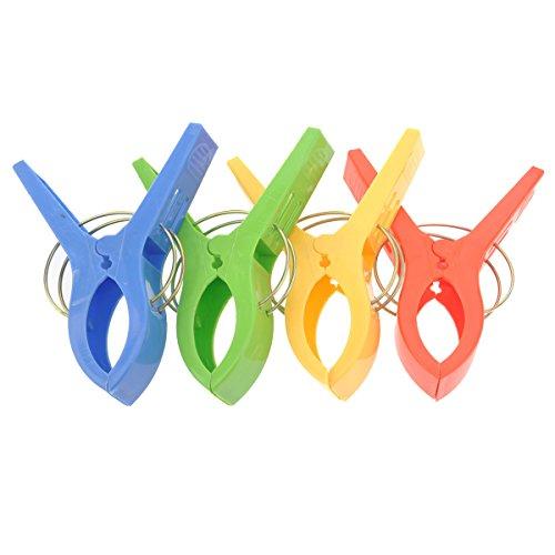 BESTOMZ 4pcs durevole mollette di plastica grande mollette Pins in diversi colori