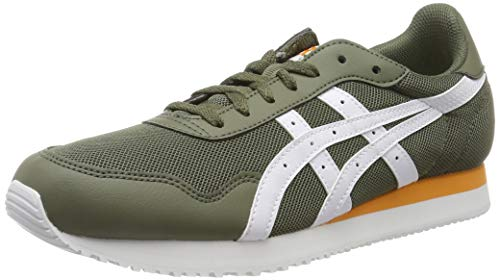 ASICS Tiger Runner, Scarpe da Running Uomo, Verde (Mantle Green/White 300), 46 EU